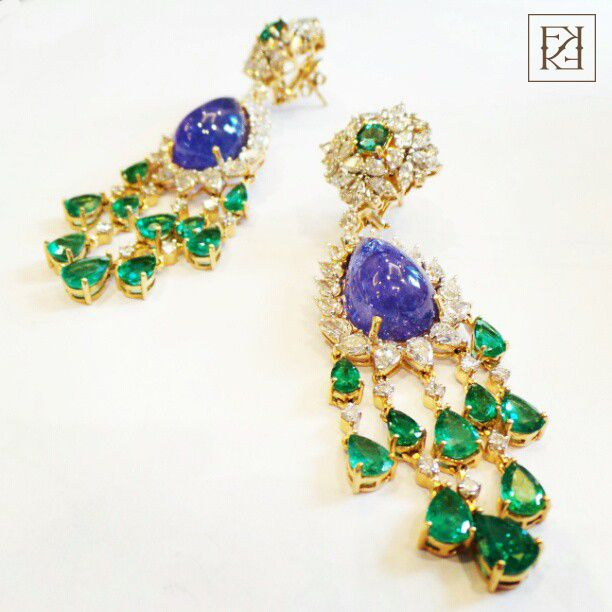 Sapphire & Emerald Earrings, FKFJ - Where precious becomes priceless for more visit eStore http://www.farahkhanfinejewellery.com #farahkhanfinejewellery #fkfj @farah g Khan #fkfjdesign #designer #design #jewelry #diamondjewelry #designerjewelry #jeweleryforwomen #jewellery #emeralds #diamonds #tanzanite #colombianemerald #diamonds #earrings #aesthetic #largestones #jewelryforwomen #photooftheday #musthave #andyoudeservethese #today #mumbai #indianjewelry #diamondjewellery
