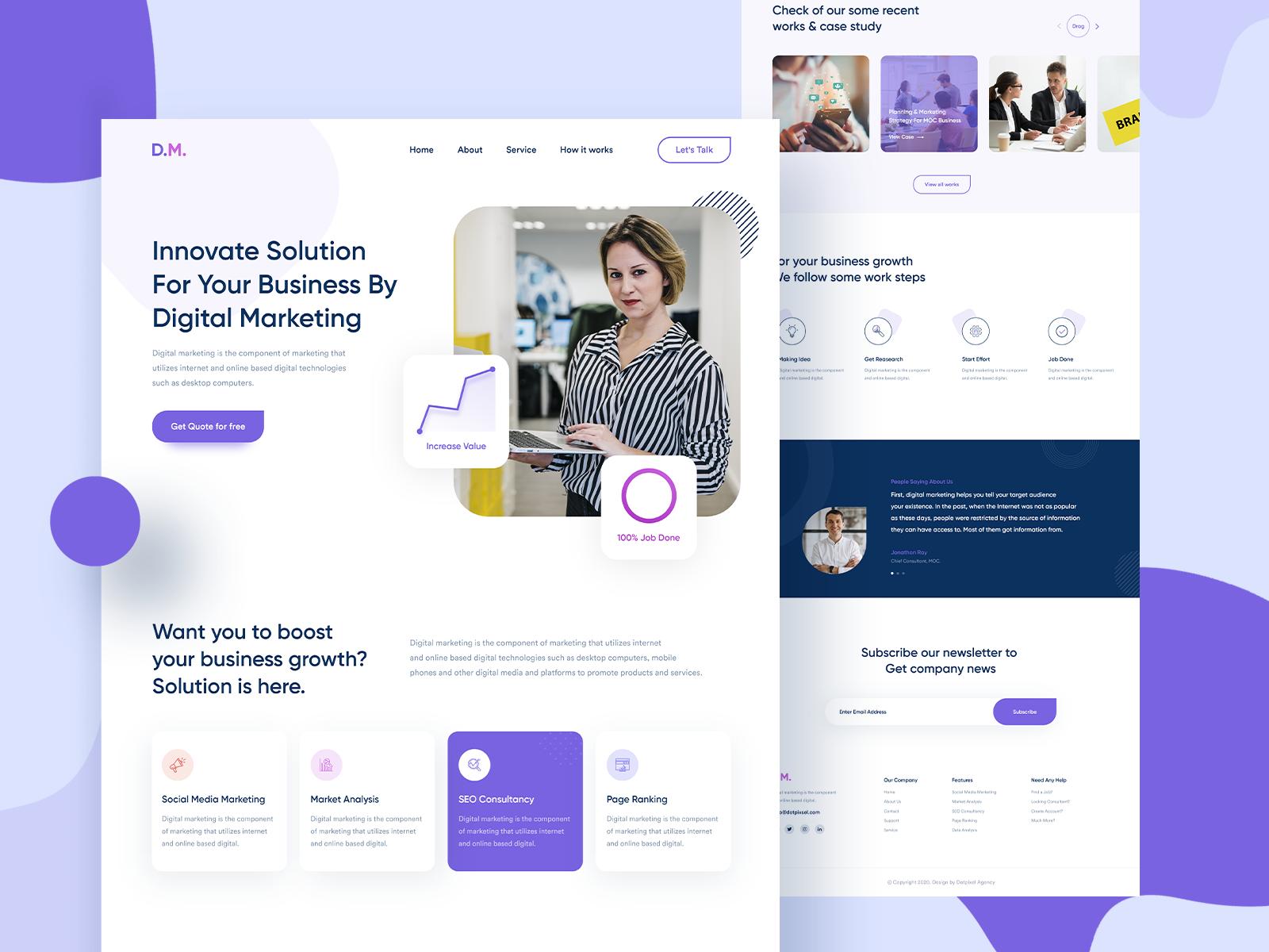 Digital Marketing Website Design In 2020 Digital Marketing Design Agency Website Design Professional Website Design