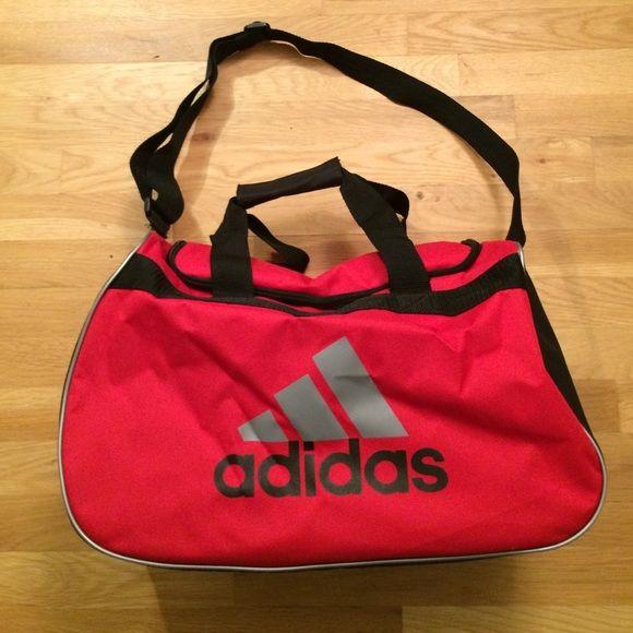 Small Adidas Duffle Bag Red