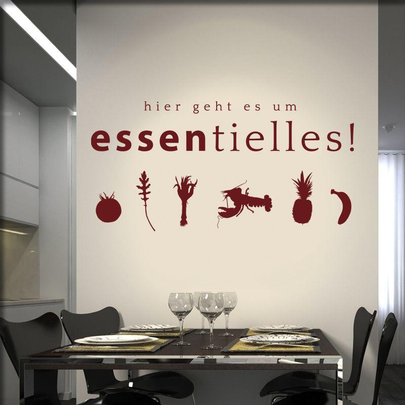 Wandtattoo Essentielles Gastronomie Markthalle Pinterest