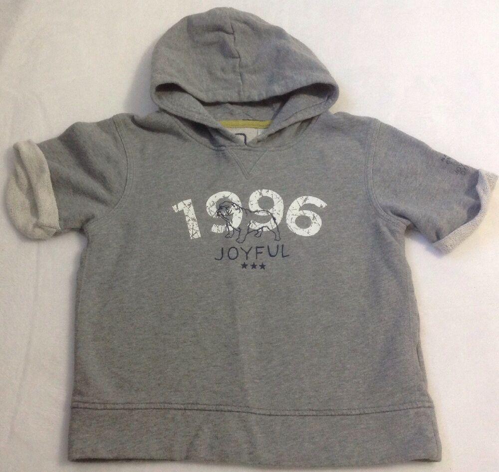 Details about Boy's Okaidi Sweatshirt Hoodie Sz 8 Gray