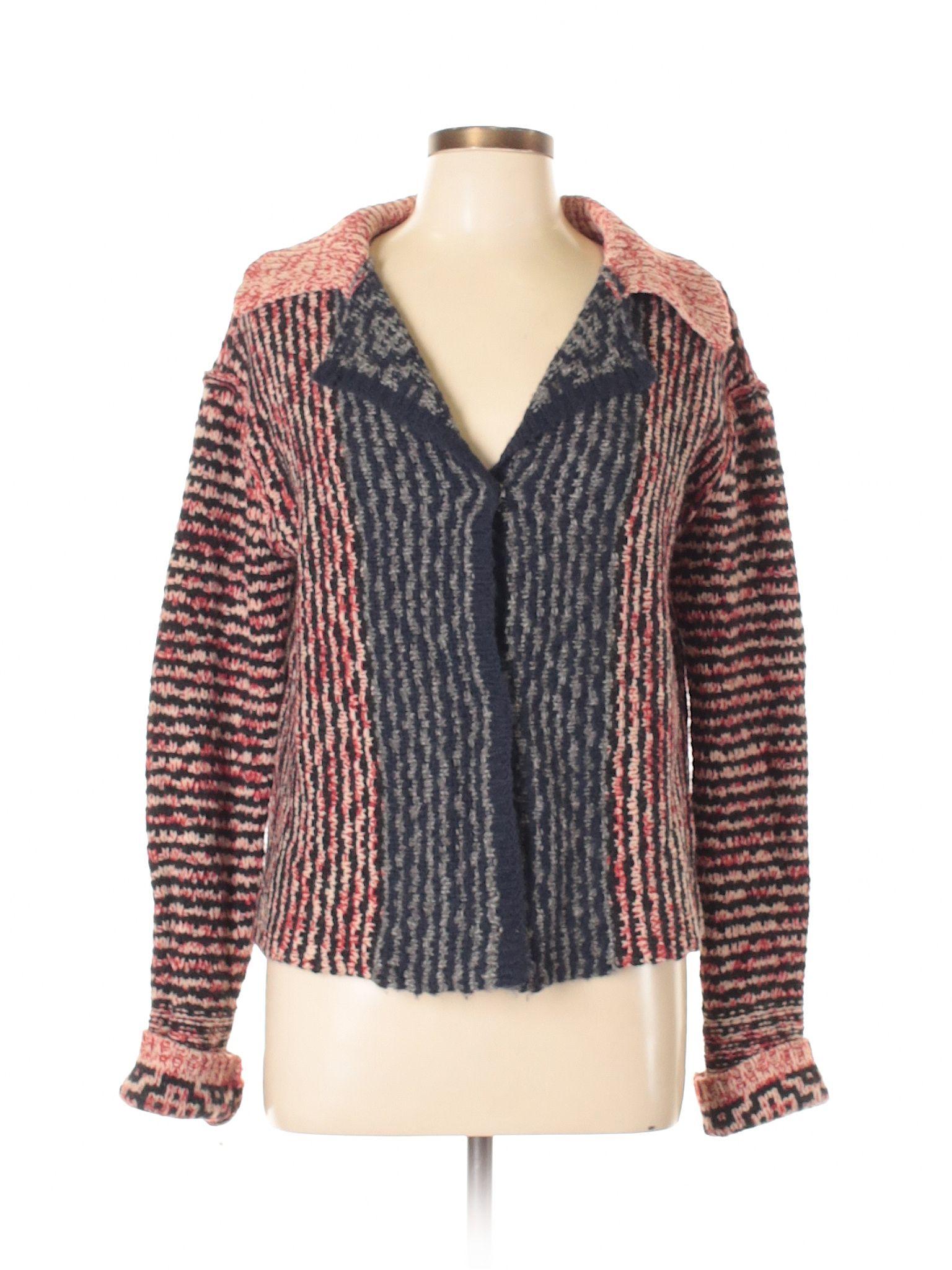 87ae03f5d156 Free People Wool Cardigan: Size 12.00 Navy Blue Women's Sweaters &  Sweatshirts - $38.99