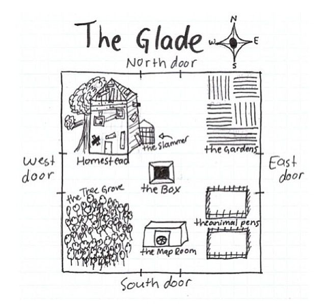 The Maze Runner - The Glade. Finally I get to see a layout ...