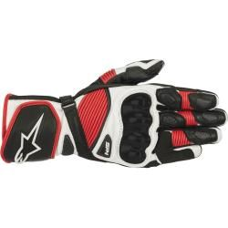 Photo of Alpinestars Sp-1 v2 Motorbike Leather Gloves Black White Red Xl Alpinestars