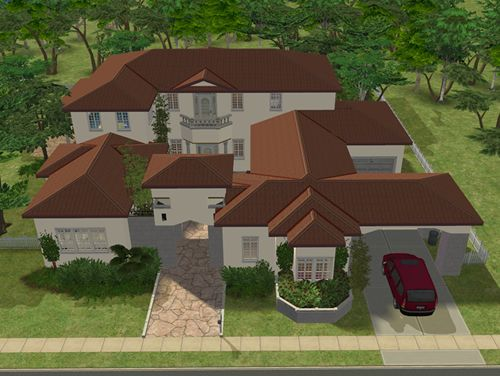Huge Villa For Rich Sims By Sims 2 Houses Sims 2 House Sims House Sims