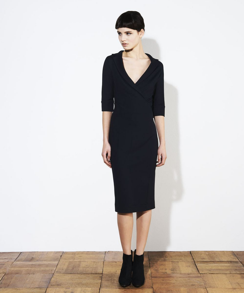 vanilia zwarte jurk