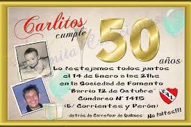 Resultado De Imagen Para Invitaciones Para Fiesta De 50 Años