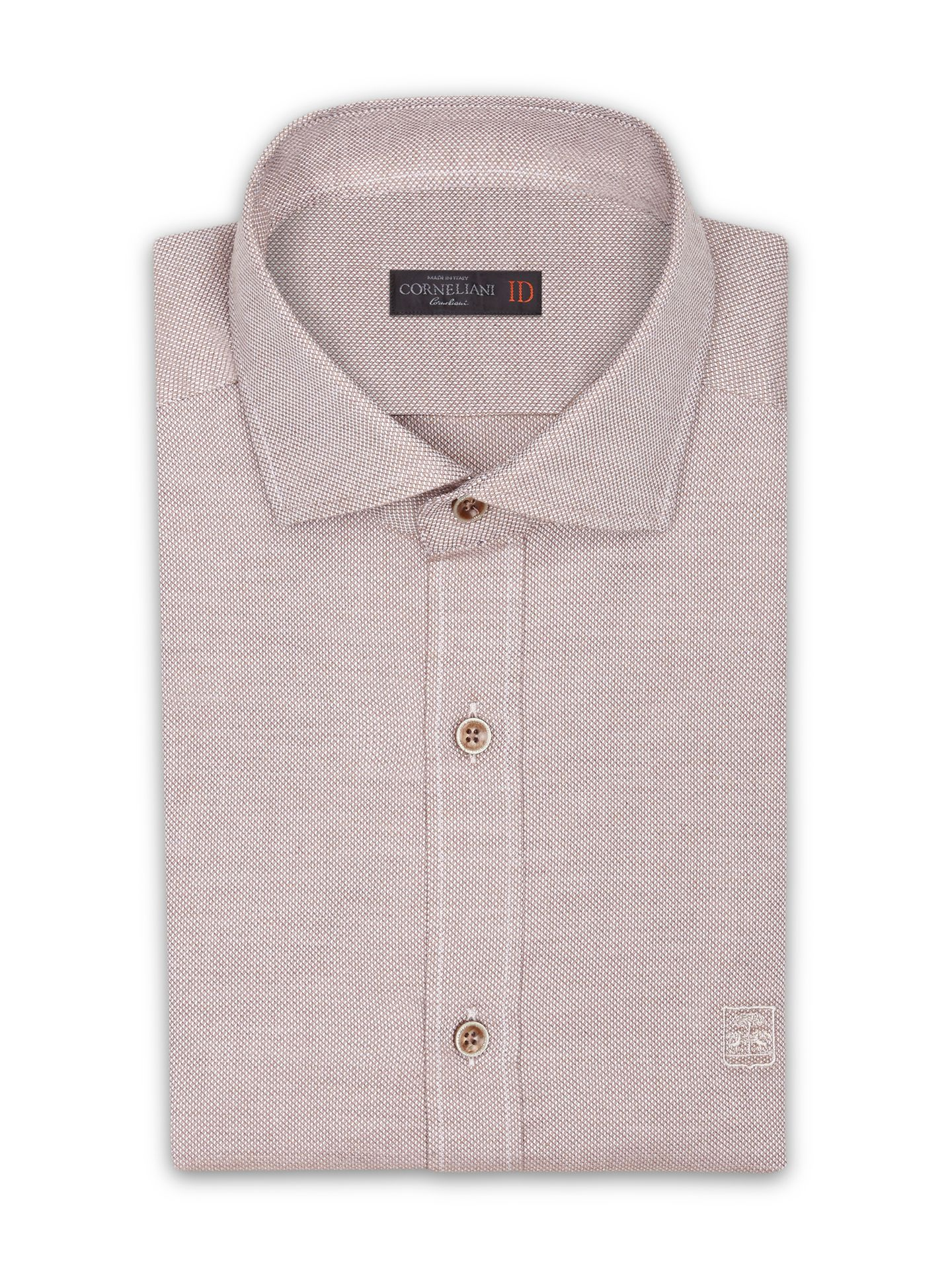 Beige Royal Oxford cotton #shirt, small collar. #Corneliani #FW16 #accessories