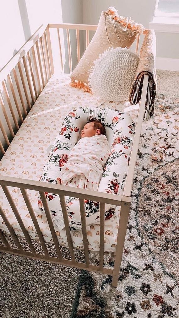 ORGANIC Rainbow Baby Bedding GIRLS Fitted Crib Sheets ...