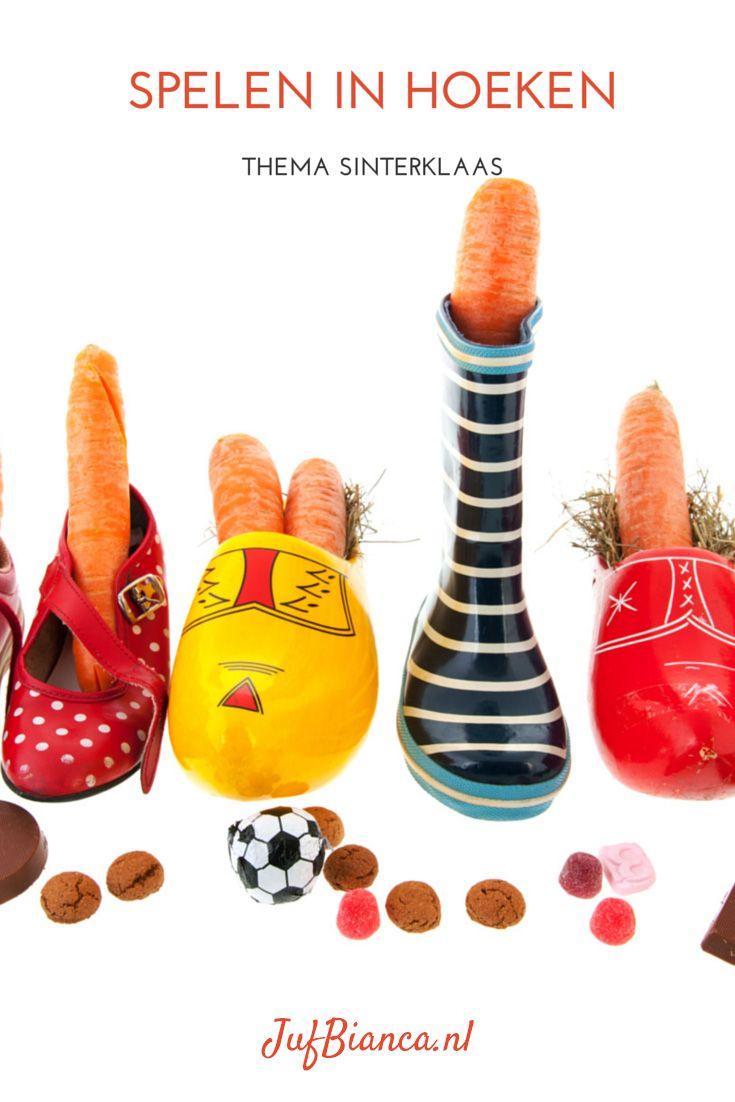 Thema Sinterklaas: spelen in hoeken #sintenpiet