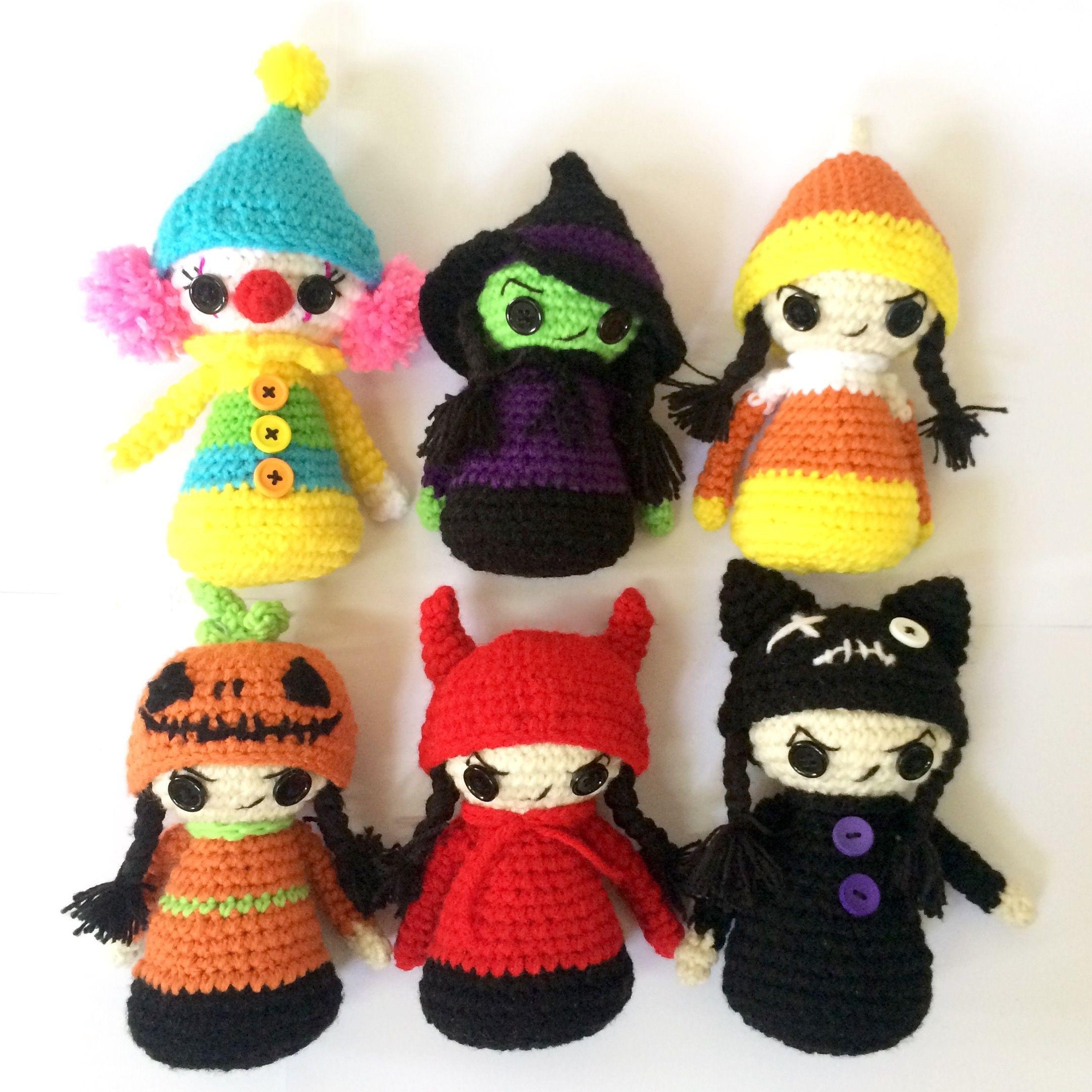 CROCHET PATTERN Halloween, Crochet pattern Christmas, Halloween doll ...