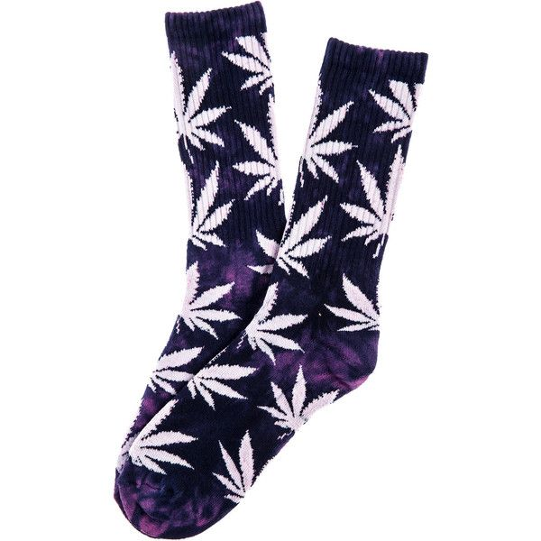 HUF The Tie Dye Plantlife Crew Socks in Purple ($12) ❤ liked on Polyvore featuring men's fashion, men's clothing, men's socks, socks, huf, purple, mens tie dye socks and mens purple socks