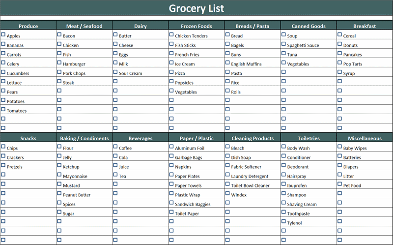 Shopping List Template Word from i.pinimg.com
