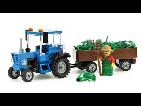 Lego Tractor Belarus Moc Building Instructions Youtube Dream