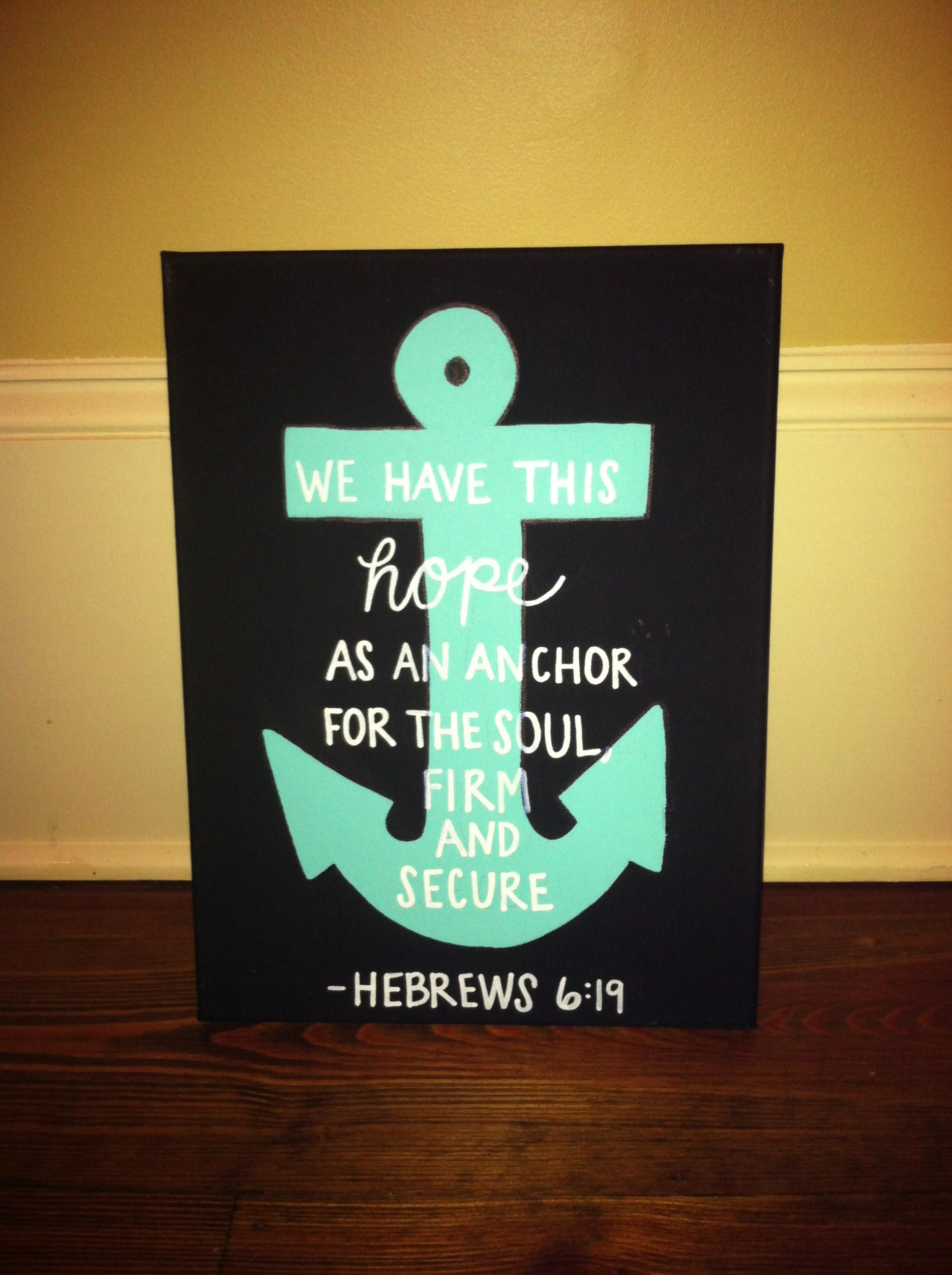 Diy Canvas Wall Art Quotes Diy Anchor Canvas Love This Quote Do It Yourself