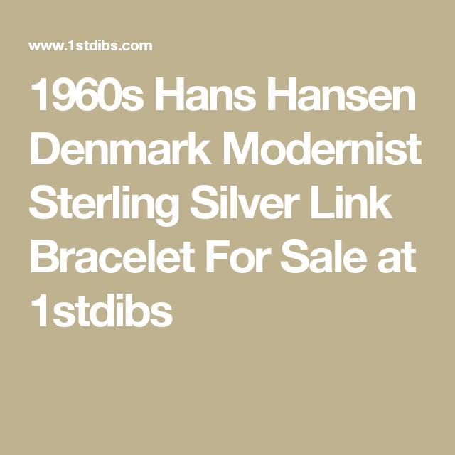 1960s Hans Hansen Denmark Modernist Sterling Silver Link Bracelet For Sale at 1stdibs