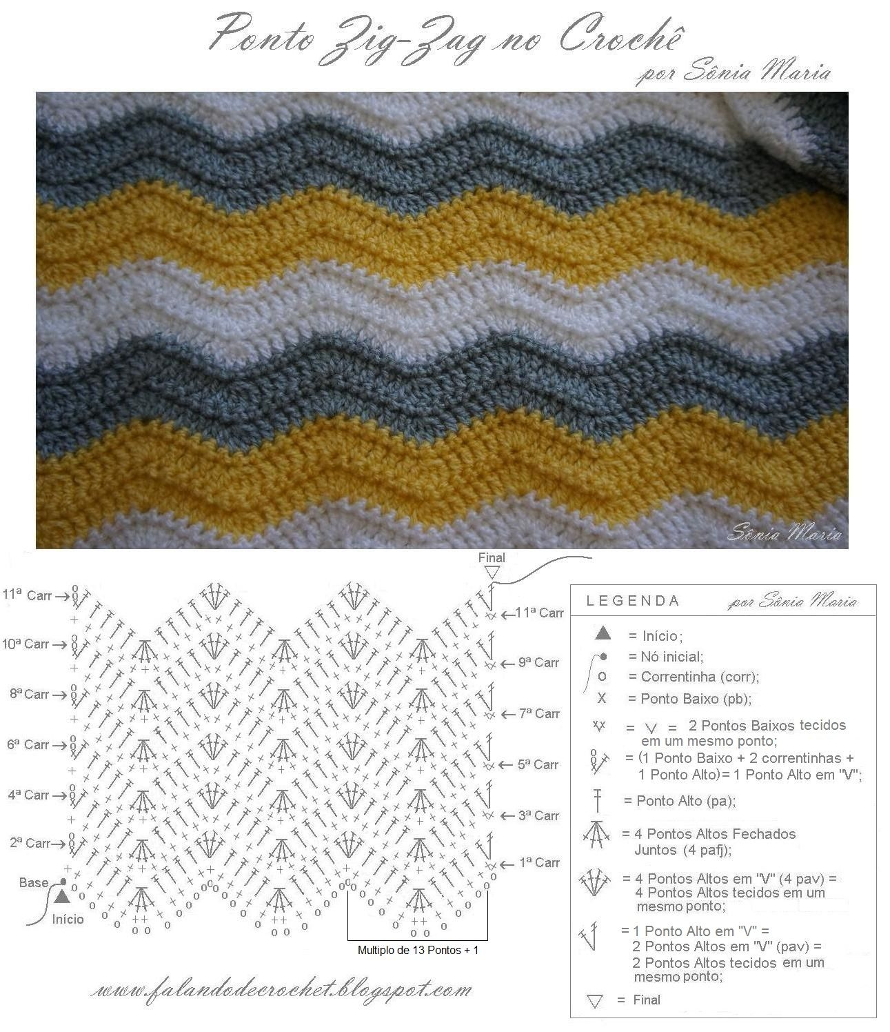 Finally finished the CROCHET BLANKET in the ZIG-ZAG STITCH, which I ...