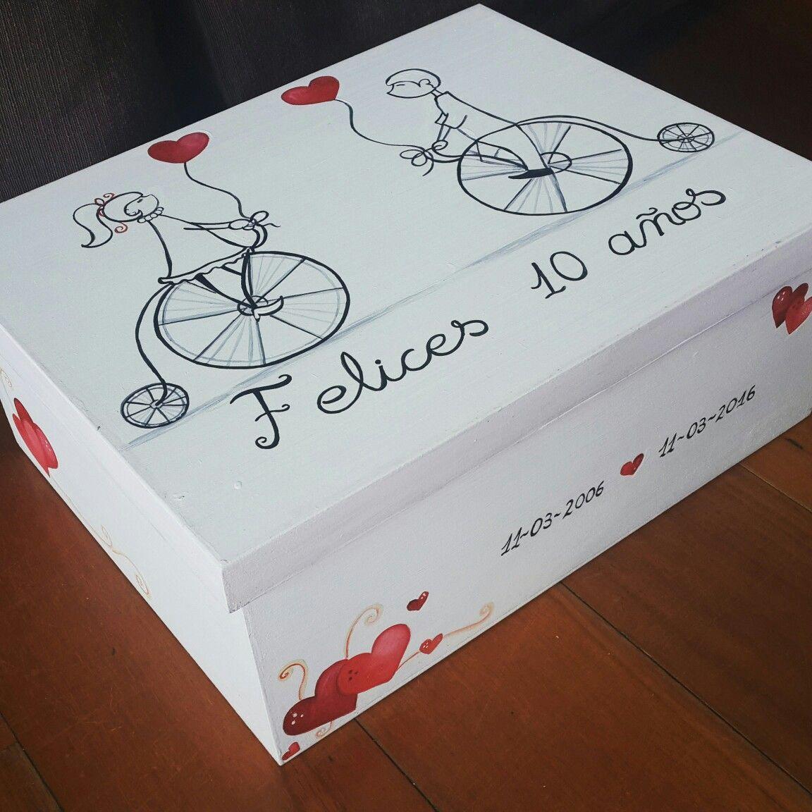 Caja regalo aniversario personalizada regalos para mi - Regalos de primer aniversario ...