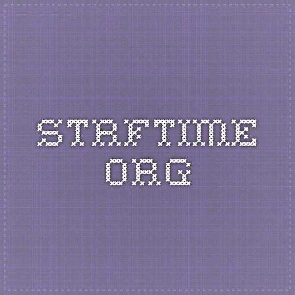 strftime org | Dev | Coding, Python