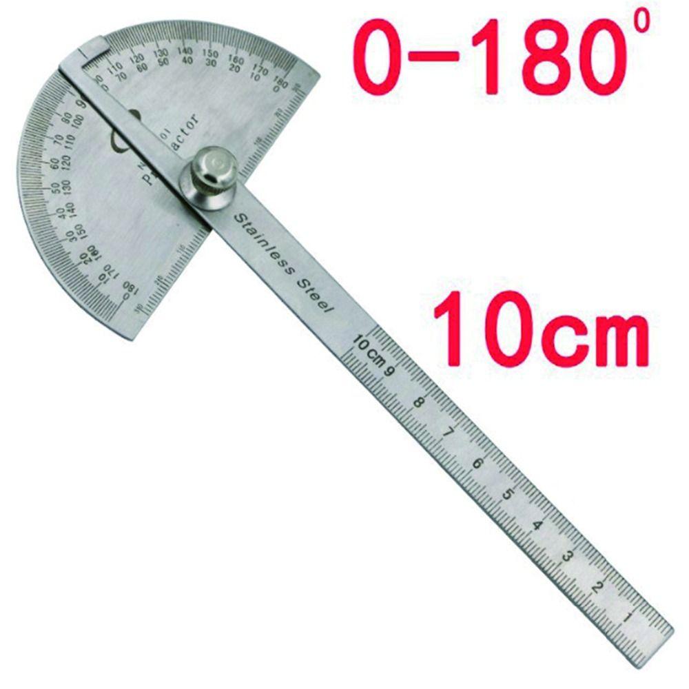 Localizador de Ângulo Rotativo de 180 graus Transferidor Cabeça Redonda de Aço inoxidável de Medição Régua Machinist Ferramenta Artesão Régua Digital