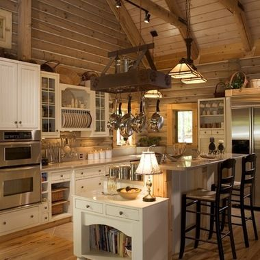 Log Home Design Ideas Pictures Remodel And Decor Log Home Kitchens Rustic Kitchen Log Home Floor Plans