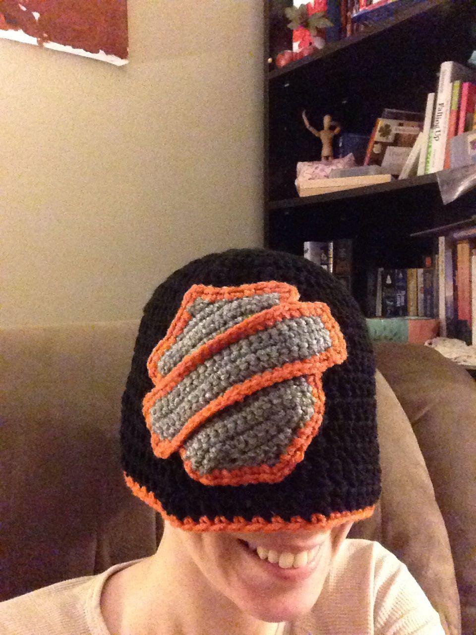 Crochet Harley Davidson Logo Hat Hollys Hooks Crochet Crochet