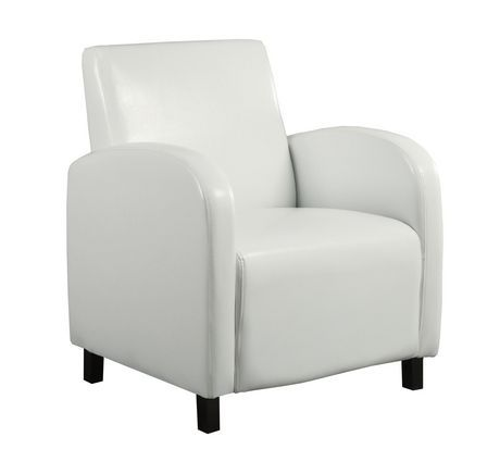 Monarch Specialties Inc Monarch Specialties Leather Look Accent Chair White Leather Accent Chair High Back Accent Chairs Accent Chairs