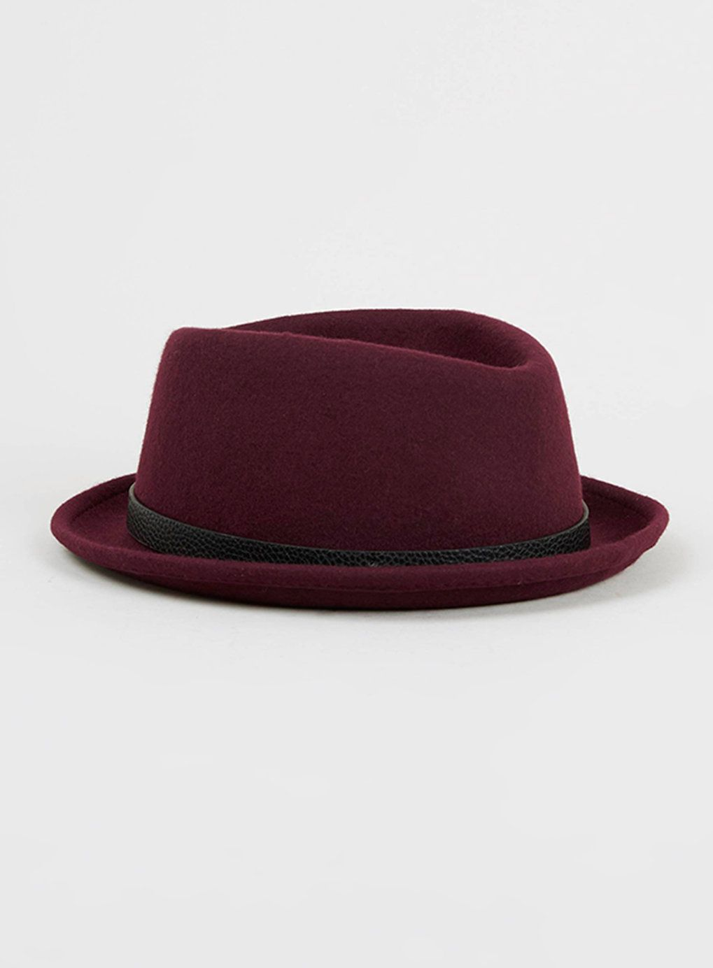 8e9edd964db Burgundy Pork Pie Hat - Topman. For mens fashion check out the latest  ranges at Topman online and buy ...