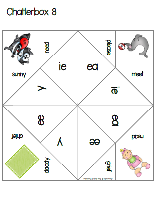 Literacy Cootie Catchers and Fortune Tellers for Vowel Sounds ...