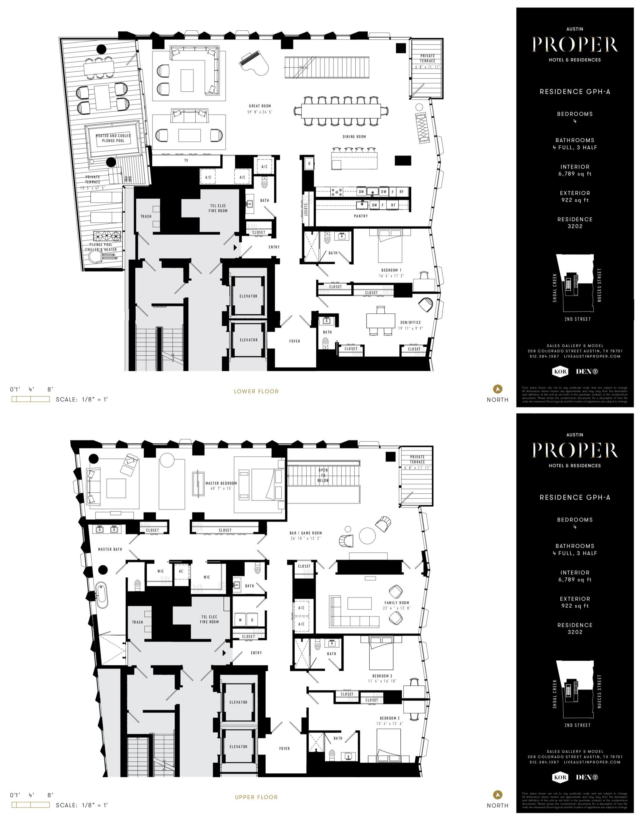 Austin Proper Hotel Residences Gph A Condo Floor Plans Floor Plans Apartment Floor Plans