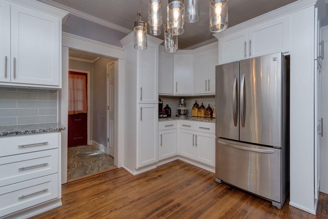 Our finished remodel of our 1900 farmhouse kitchen (minus ...