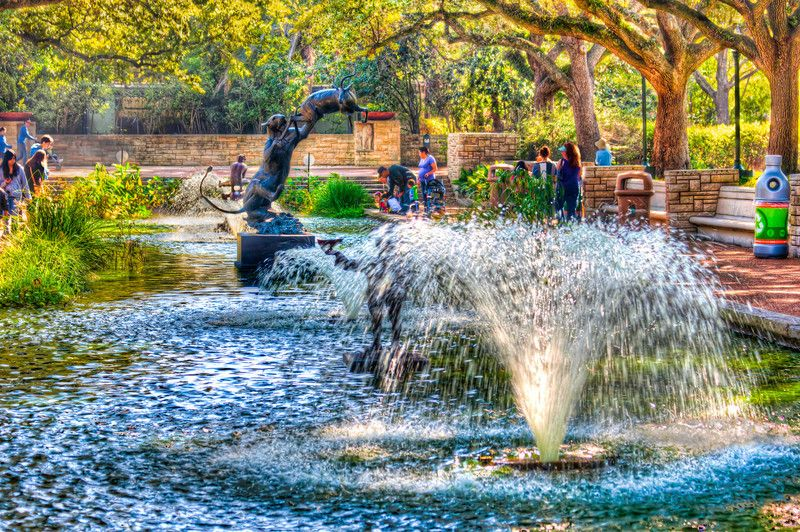 When You Re All Rested You Can Return To Watching The Other Animals At The Zoo Here Is Another View Of The Statue In The Center Of Houston Zoo Small Fountains