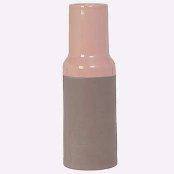 Native Vase - Peach Pink: Ceramic handmade Dutch peachy pink 'Native' vase, beautiful as a stand alone piece or filled with seasonal blooms.
