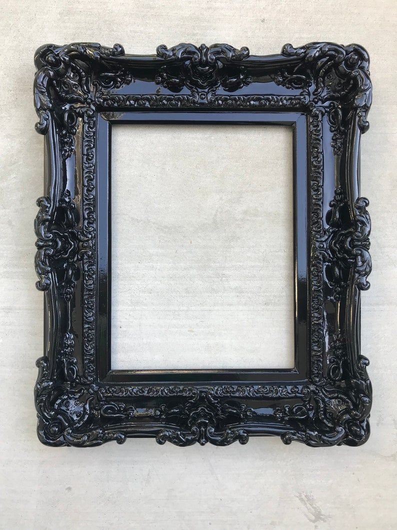 12x16 Black Frame Wall Mirror Frame For Canvas Or Art Paint Etsy In 2020 Frames On Wall Framed Mirror Wall Baroque Frames