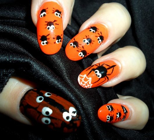 Nails With Baby Spiders And Their Mommy Rita Korn Fort Wayne In
