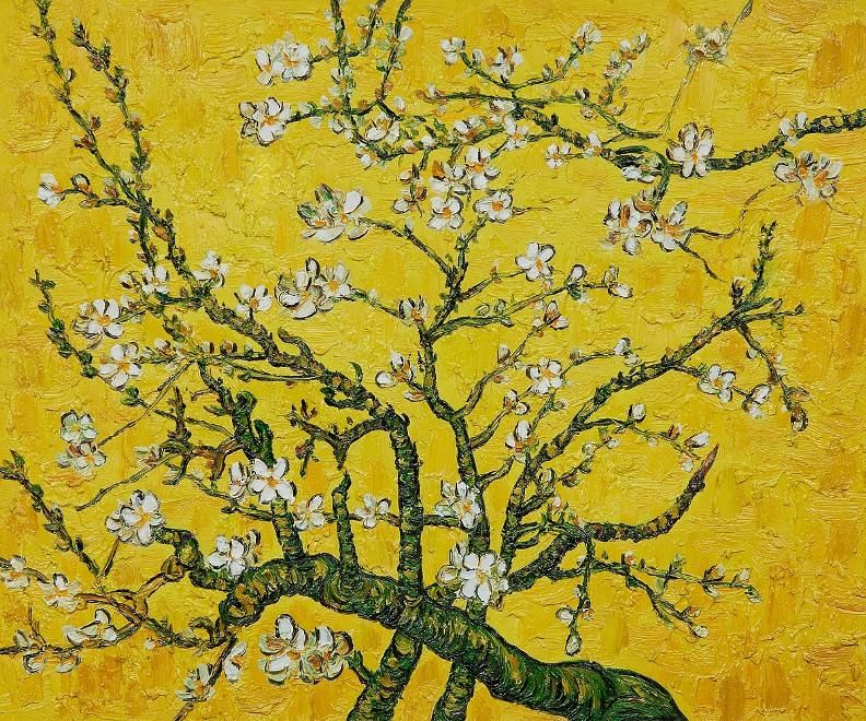 Branches Of An Almond Tree In Blossom Yellow Van Gogh Art Van Gogh Almond Blossom Vincent Van Gogh Art