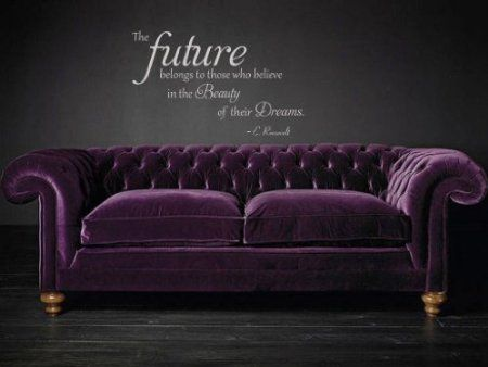Amazon.com: The Future Belongs To Those Who Believe in The Beauty of Their Dreams Vinyl Wall Decal: Home & Kitchen