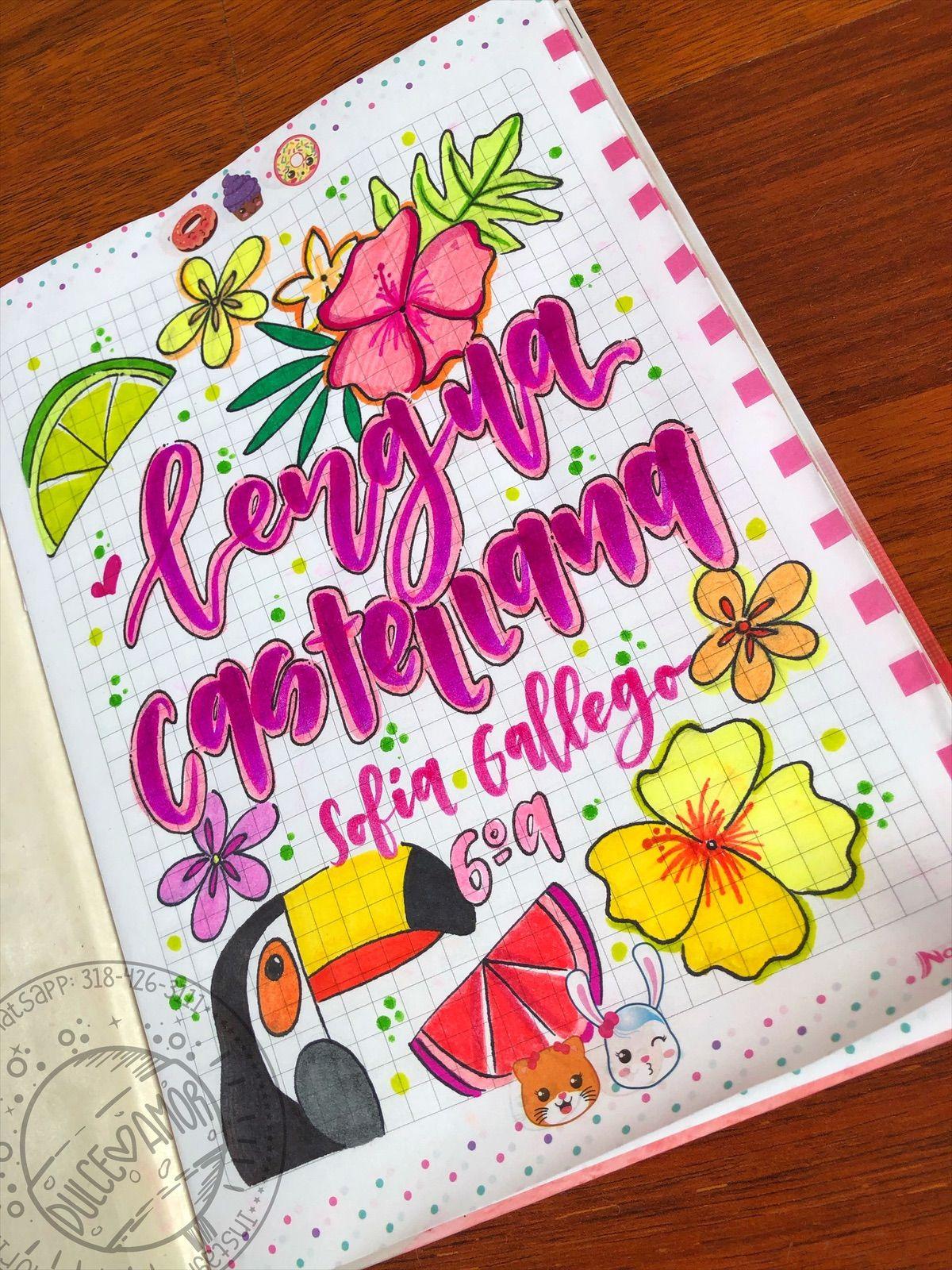 Marcamos tus cuadernos 🌸 dulceamor17 pereira Marcas de