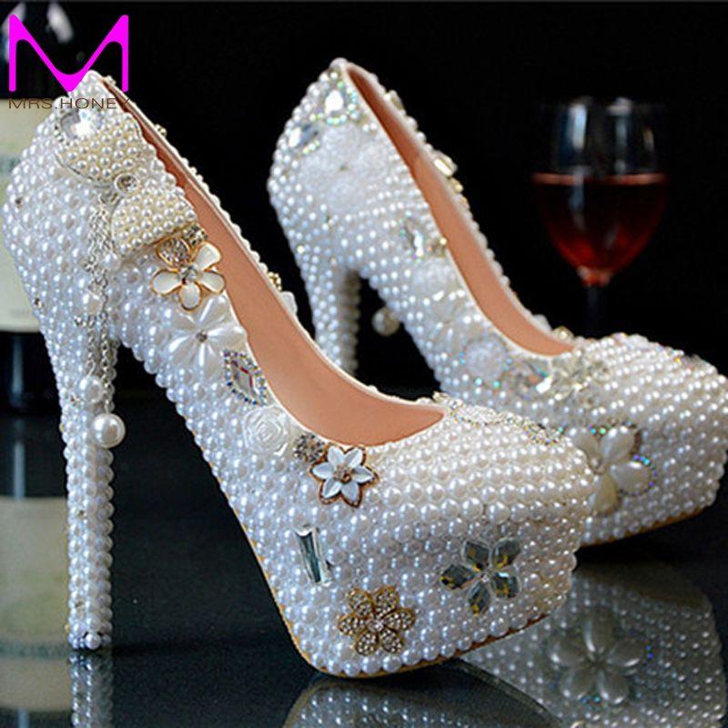 3bd5de297e New Wedding Ultra high heel Platform Crystals Shoes Aesthetic ...