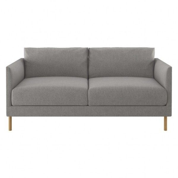 Hyde Grey Fabric 2 Seater Sofa Wooden Legs 655 Liked On Polyvore Featuring Home Furniture Sofas Grey Couc Grey Fabric Sofa Wooden Leg Sofa Seater Sofa