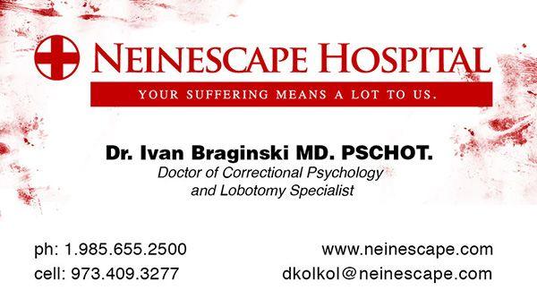 Creative reddish Hospital business card sample, designed for - business card sample