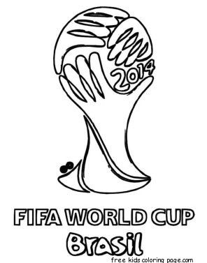 Printable Soccer World Cup Brazil Coloring Pages For Kids Soccer