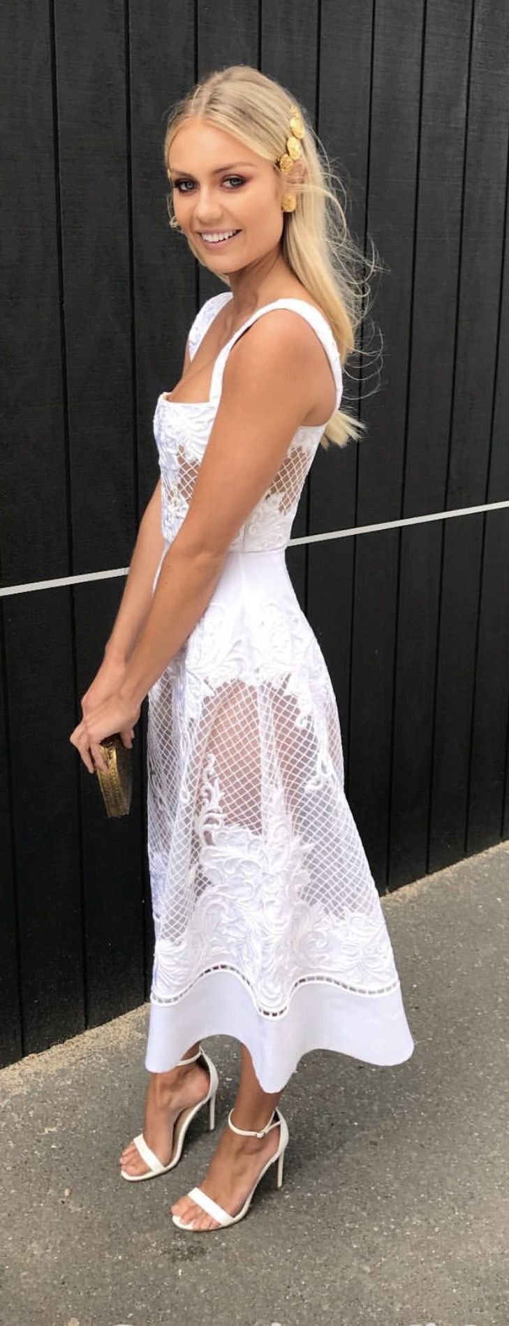 White Lace Dress Races одежда In 2019 Dresses Fashion