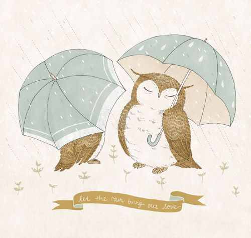 owls in the rain by Chan Yee Von