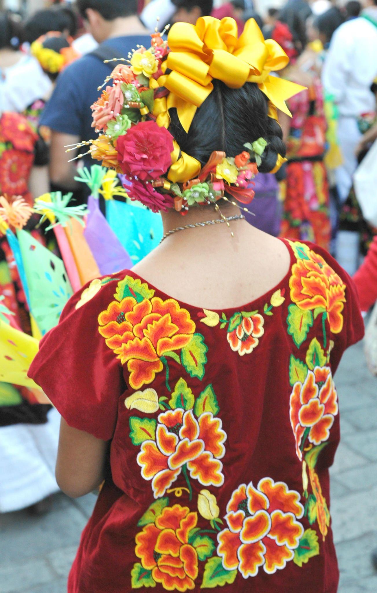 Tehuana with Yellow Ribbon