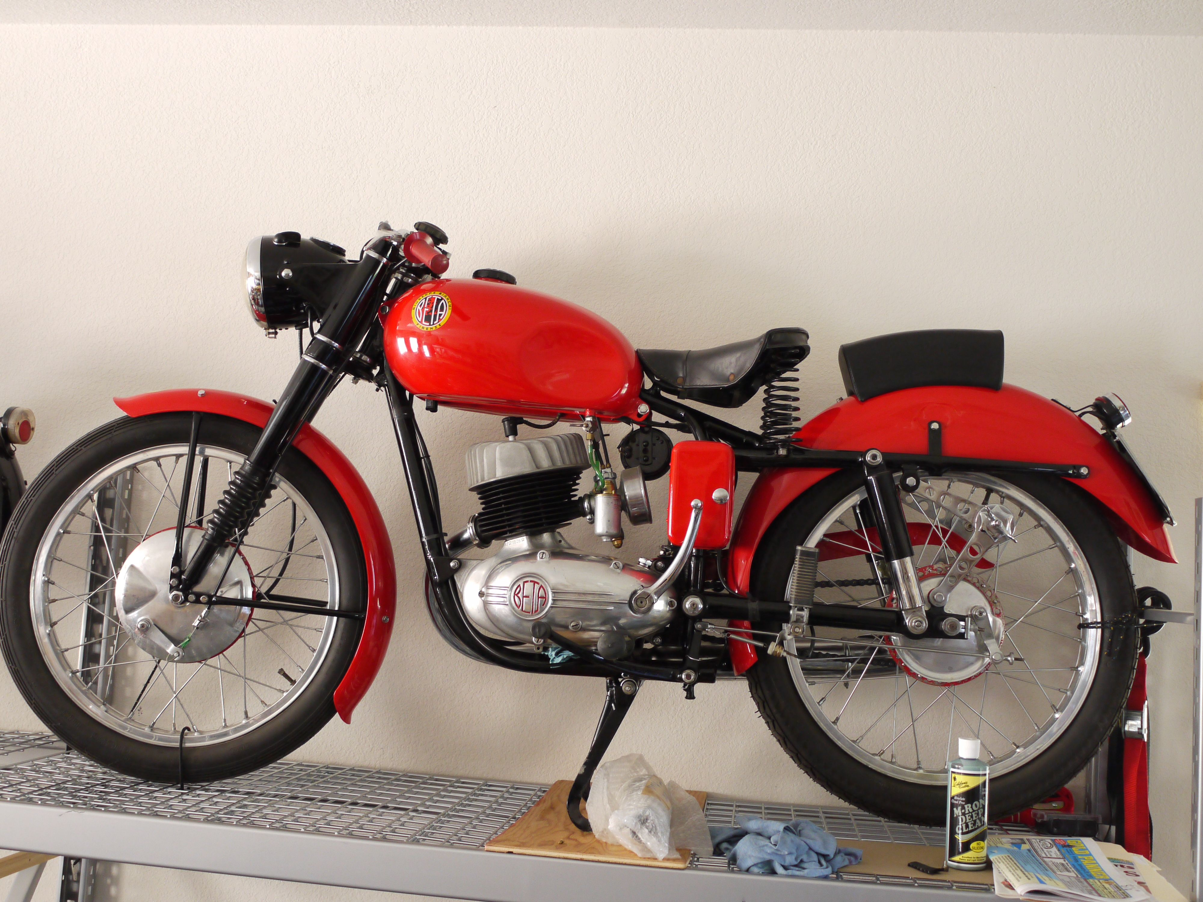 1955 Beta Vulcano sports 160 Motorcycle manufacturers