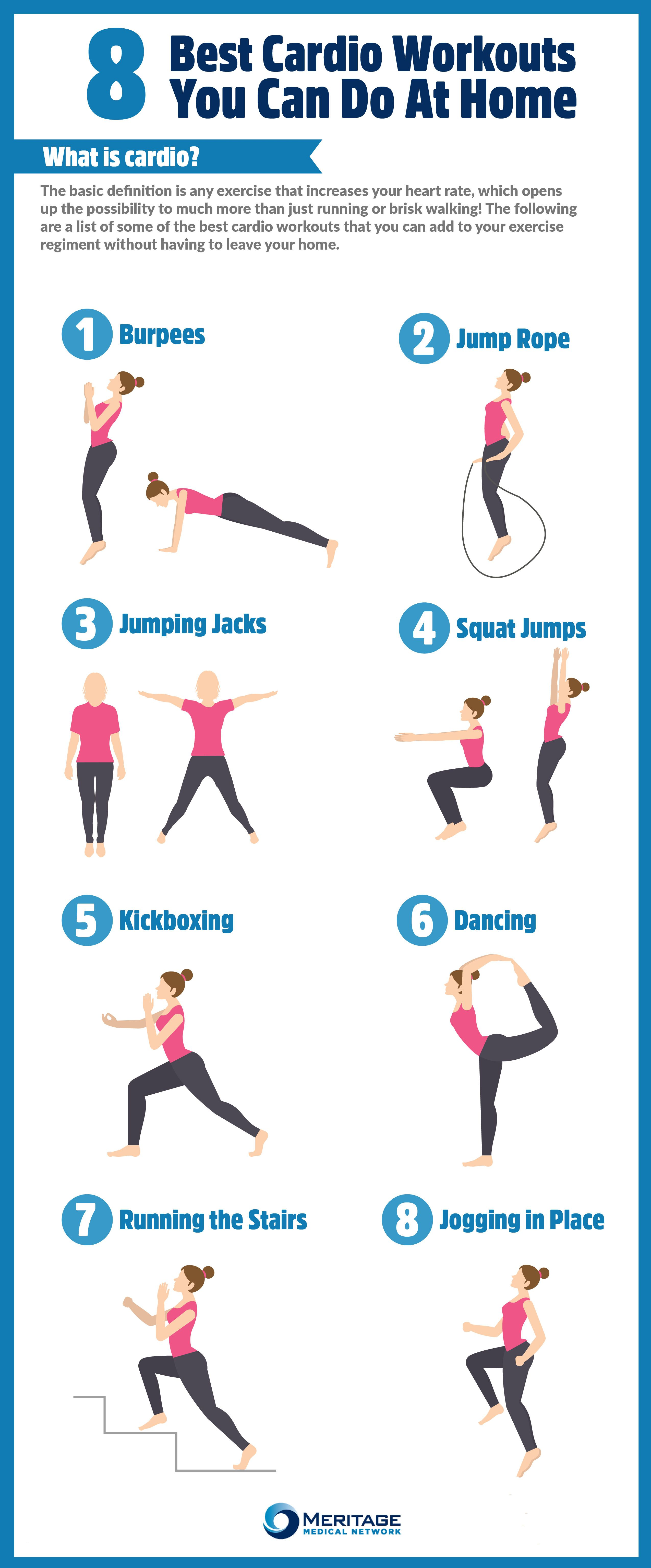 Fitness Exercises At Home Women Fitness Magazine Cardio Workout At Home Best Cardio Workout Cardio Workout