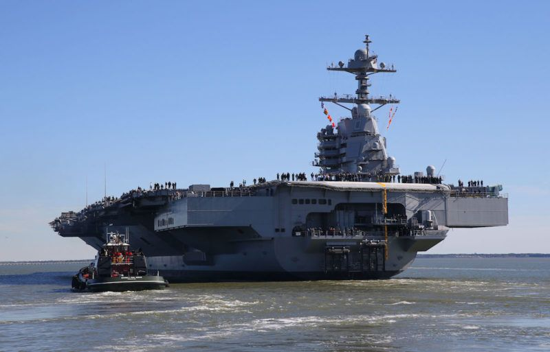 Photos Future Uss Gerald R Ford Supercarrier At Sea For First Time Aircraft Carrier Navy Aircraft Carrier Navy Carriers