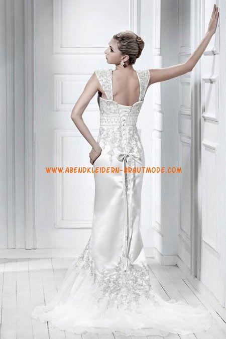 Meerjungfrau Schönste Designe Brautkleider aus Organza mit Stickerei