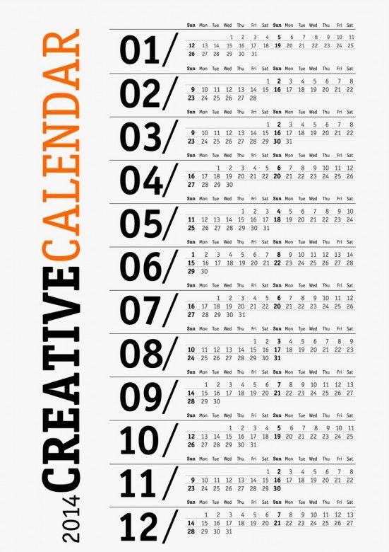 Creative 2014 Monthly Calendar (20 files) • Elsoar